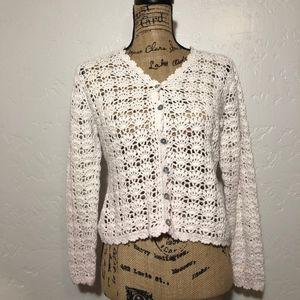 Amanda Smith open pattern, chunky sweater, size S